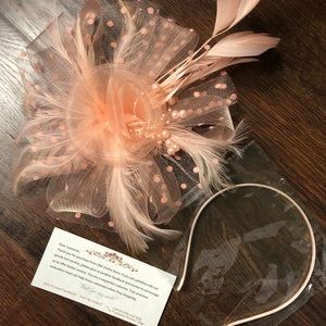 Pink derby fascinator clip & headband attachments